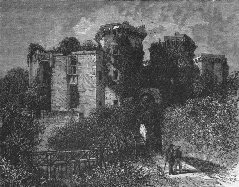Associate Product WALES. Moat at Raglan Castle 1898 old antique vintage print picture