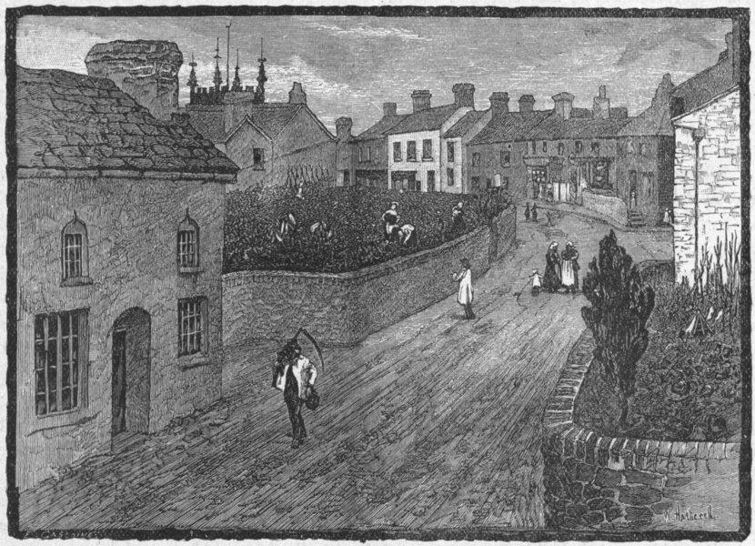 Associate Product WALES. Raglan village 1898 old antique vintage print picture