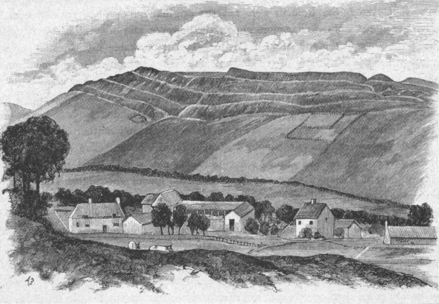 Associate Product DORSET. Dorchester. Maiden Castle 1898 old antique vintage print picture