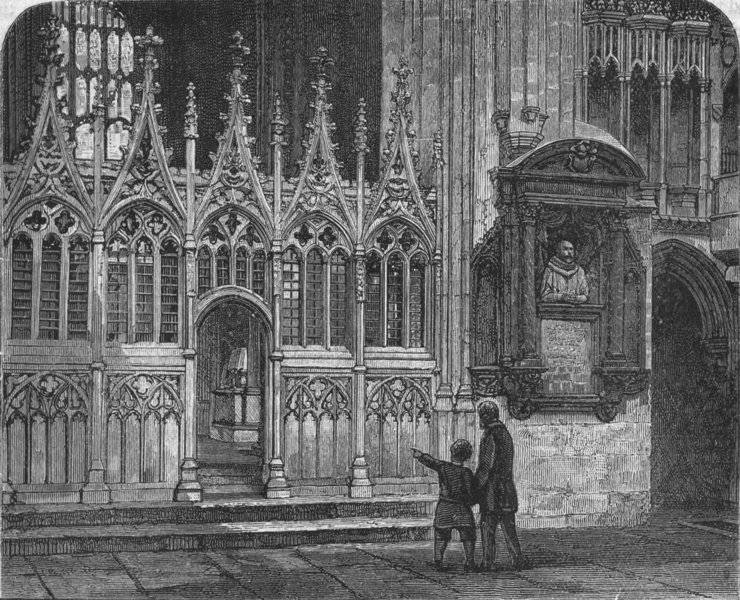 Associate Product KENT. Canterbury. Transept of Martyrdom 1898 old antique vintage print picture