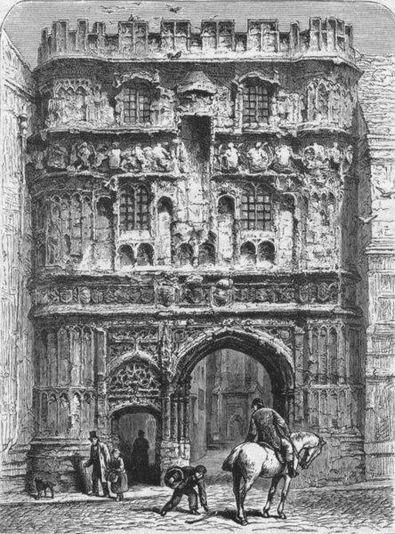Associate Product KENT. Canterbury. Christ Church Gateway 1898 old antique vintage print picture