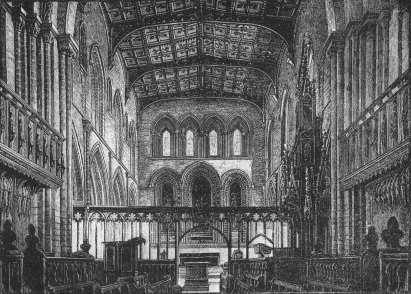 Associate Product WALES. St David's. Choir 1898 old antique vintage print picture