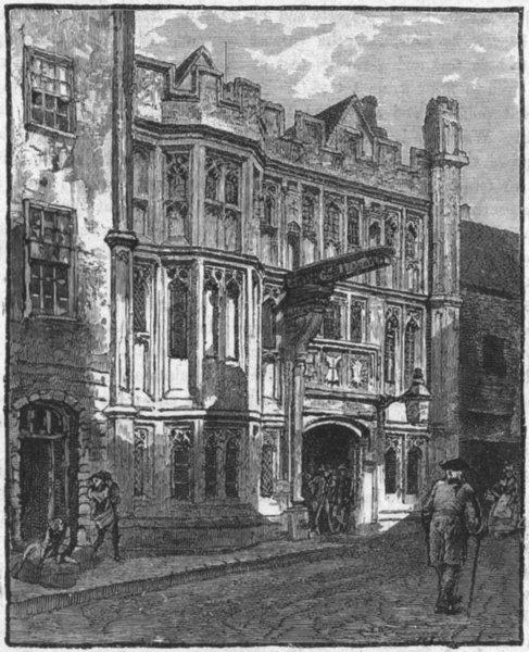 Associate Product SOMT. Glastonbury. George Inn 1898 old antique vintage print picture