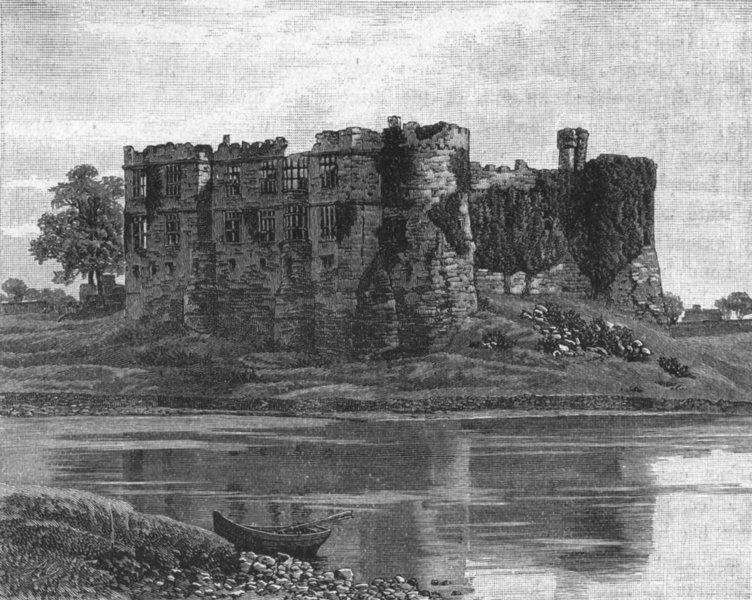 Associate Product WALES. South Pembrokeshire. Carew Castle 1898 old antique print picture