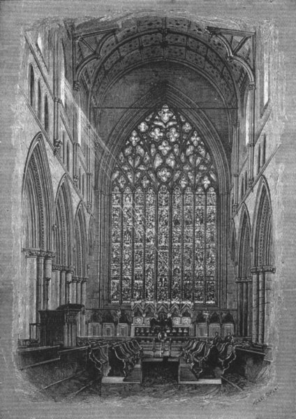 Associate Product CUMBS. Carlisle. Choir of cathedral(1885) 1898 old antique print picture