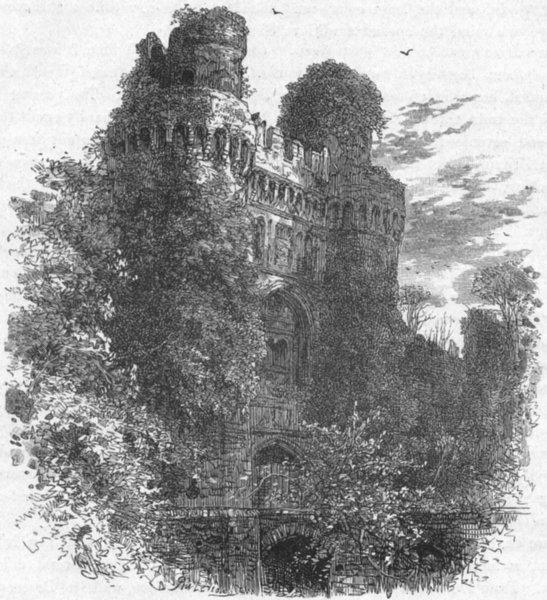 Associate Product SUSSEX. Hurstmonceaux Castle 1898 old antique vintage print picture