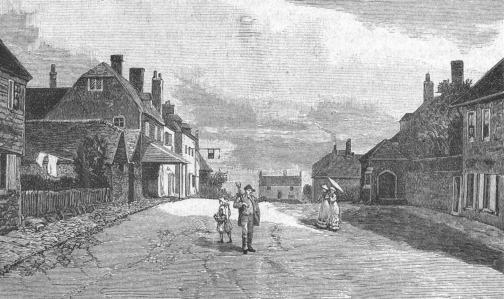 Associate Product SUSSEX. Street in Winchelsea 1898 old antique vintage print picture