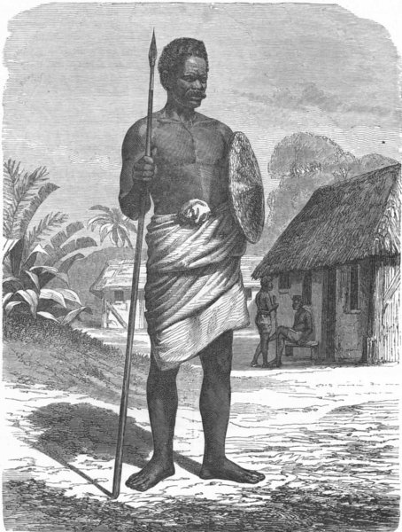 Associate Product MADAGASCAR. Madecasse Soldier 1880 antique vintage print picture