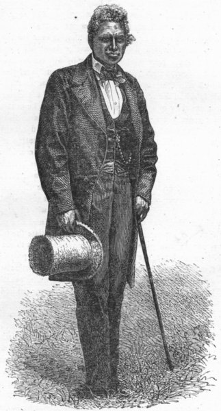 Associate Product MADAGASCAR. Prime Minister 1880 old antique vintage print picture
