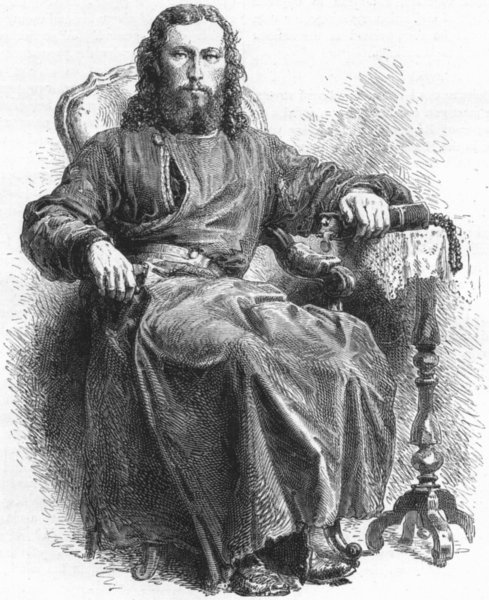 Associate Product RUSSIA. Priest of Greek Church 1880 old antique vintage print picture