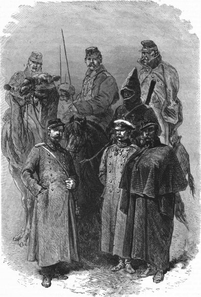 Associate Product RUSSIA. Russian troops 1880 old antique vintage print picture