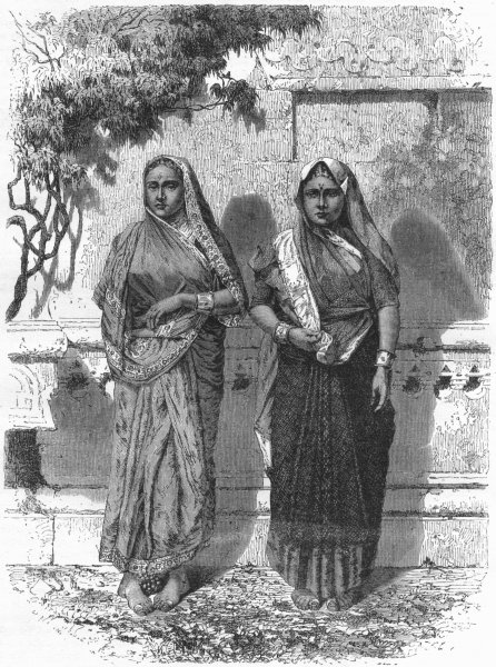 Associate Product INDIA. Women of Garhwal 1880 old antique vintage print picture