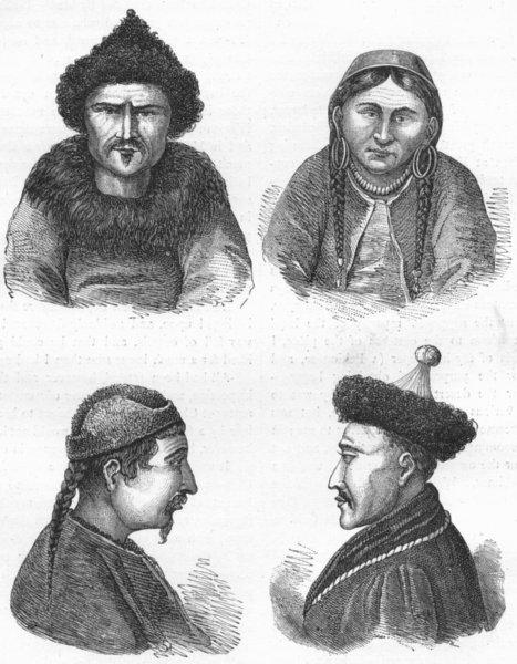 Associate Product MONGOLIA. West. Mongol Types 1880 old antique vintage print picture