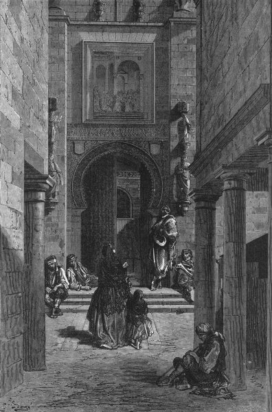 Associate Product SEVILLE. in 1867. Puerta Del Perdon, cathedral 1880 old antique print picture