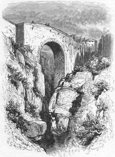 Associate Product SPAIN. . Bridge at Ronda 1880 old antique vintage print picture