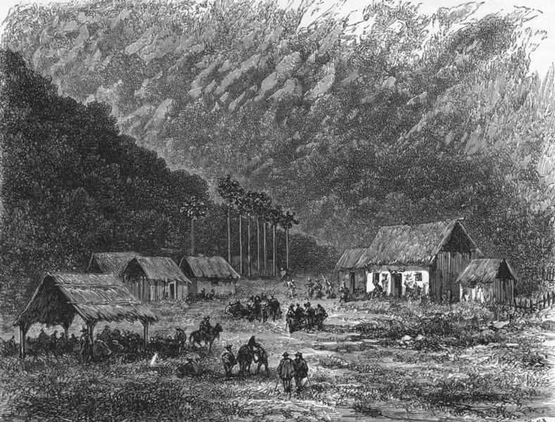 Associate Product PERU. Farm, San Gavan 1880 old antique vintage print picture