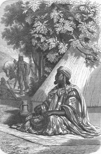 Associate Product SENEGAL. Senegambia. Almamy Oumar 1880 old antique vintage print picture