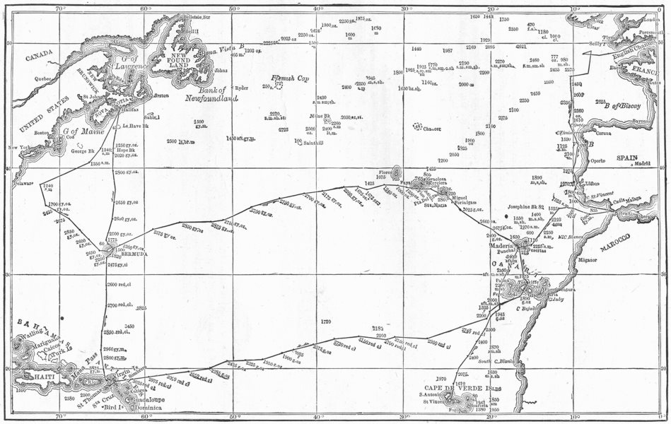 Associate Product WORLD. Govt Expedition Round. Voyage Challenger 1880 old antique map chart