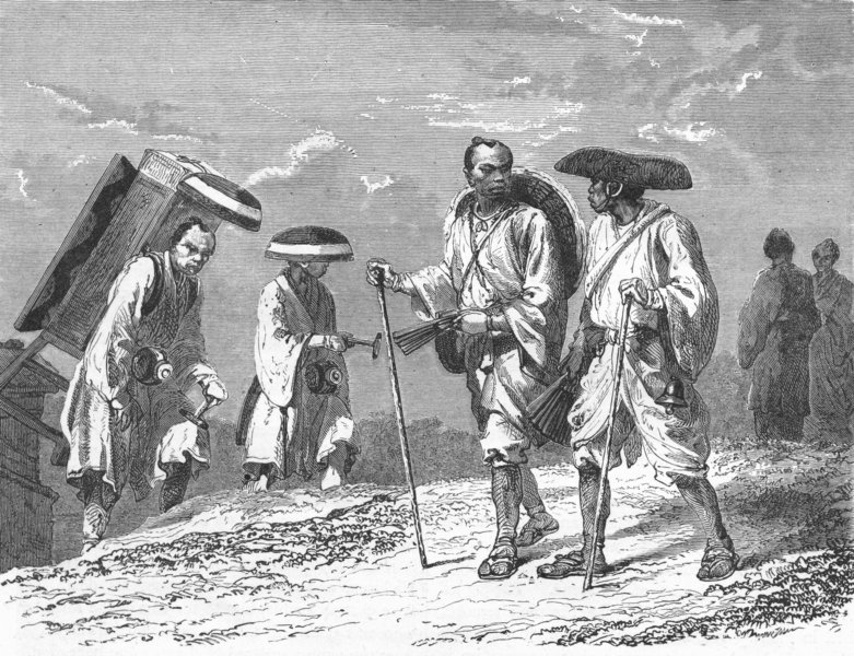 Associate Product JAPAN. Pilgrims to Fuji-no-Yama 1880 old antique vintage print picture