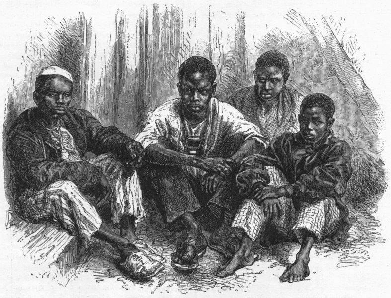 Associate Product SENEGAL. Senegambia. Civilised Negroes of Goree 1880 old antique print picture