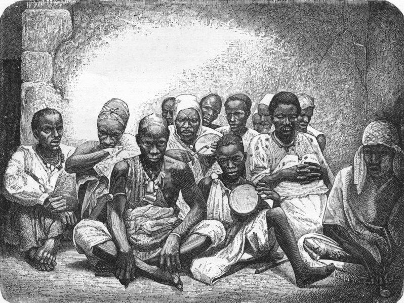Associate Product SENEGAL. Senegambia. Negroes of 1880 old antique vintage print picture