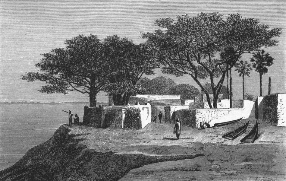 Associate Product SENEGAL. Senegambia 1880 old antique vintage print picture