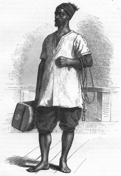 Associate Product SENEGAL. Senegambia. A Porter of 1880 old antique vintage print picture