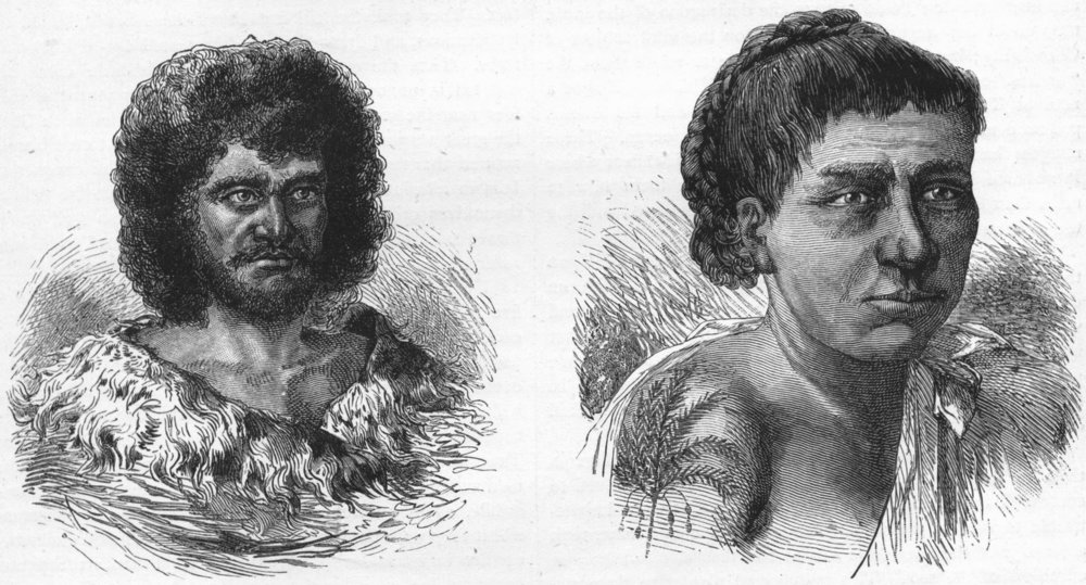 Associate Product POLYNESIA. Native of Tahiti; A Sandwich Islander 1880 old antique print