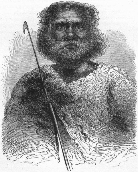 Associate Product TRIBAL. Native Australian 1880 old antique vintage print picture