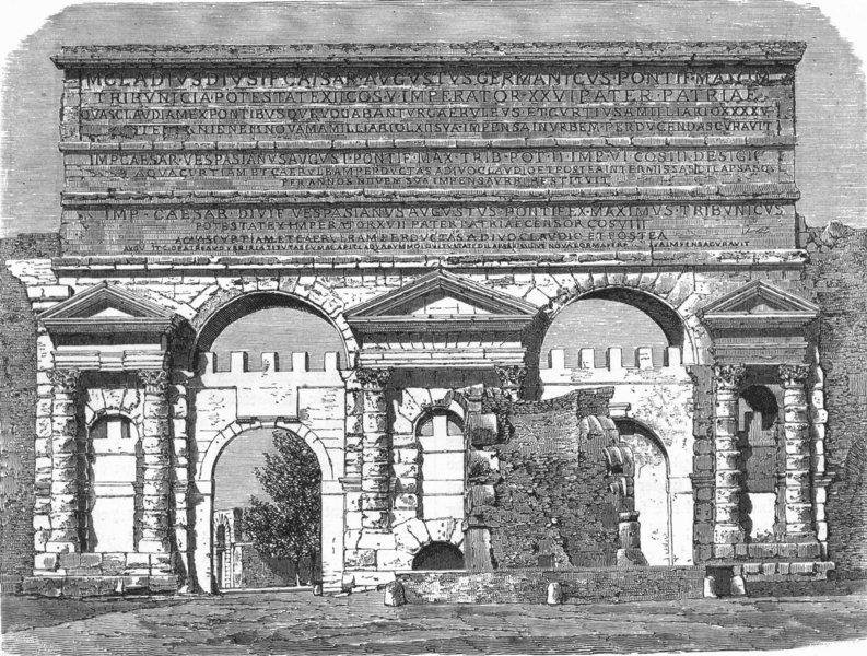 Associate Product ROME. Porto Maggiore 1880 old antique vintage print picture