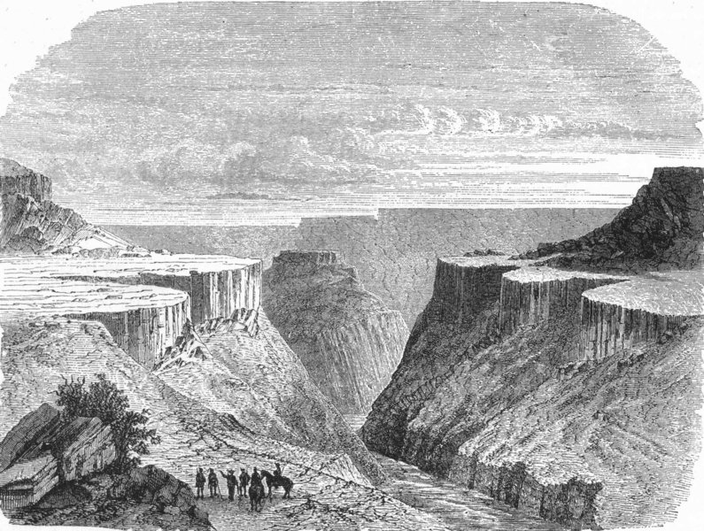 Associate Product COLORADO. Country. Canyon scenery in 1880 old antique vintage print picture