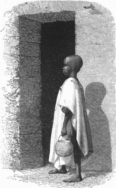 Associate Product SENEGAL. Senegambia. Negro Child  1880 old antique vintage print picture
