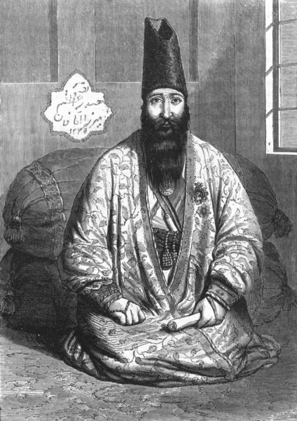 Associate Product IRAN. Persian Dignitary 1880 old antique vintage print picture