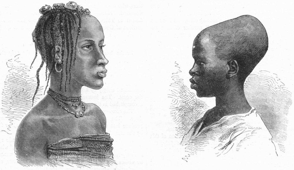 Associate Product SENEGAL. Senegambia. Native Types  1880 old antique vintage print picture