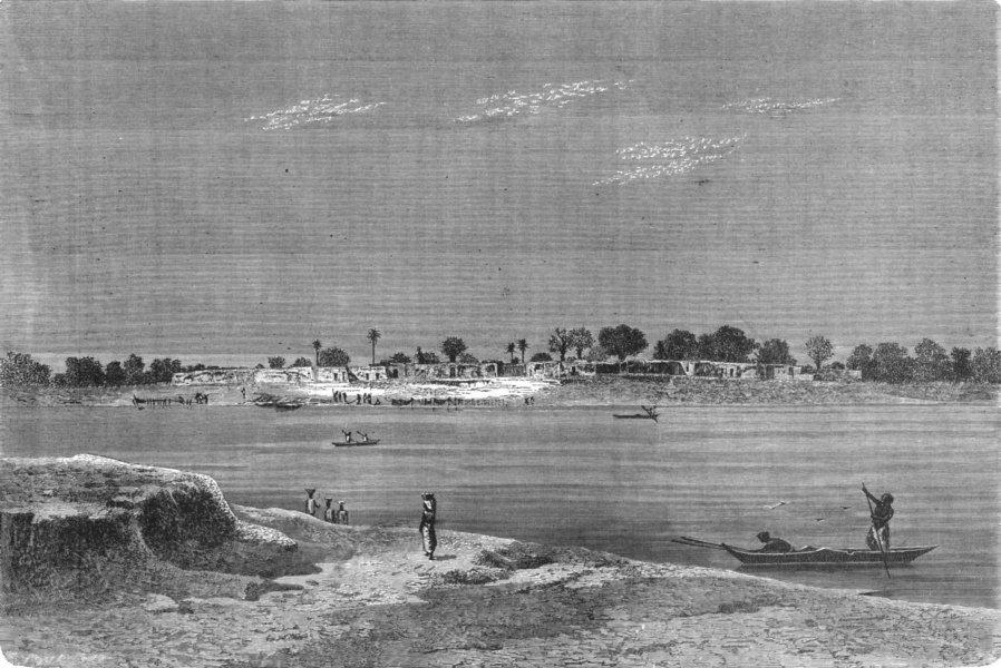 Associate Product SENEGAL. Senegambia. Ferry, Upper Niger 1880 old antique vintage print picture