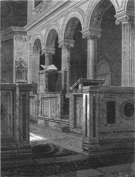 Associate Product ROME. St Clement's Church 1880 old antique vintage print picture