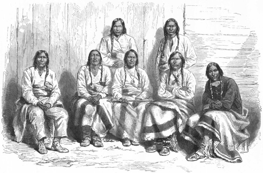 Associate Product USA. Cheyenne Indians 1880 old antique vintage print picture