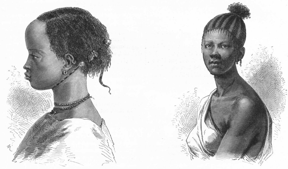 Associate Product SENEGAL. Senegambia. Women of 1880 old antique vintage print picture