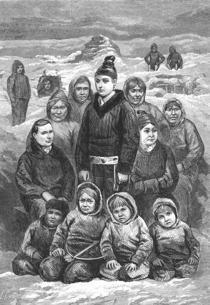 Associate Product PORTRAITS. Eskimo Women & Children 1880 old antique vintage print picture