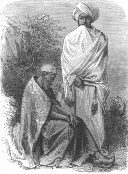 Associate Product ETHIOPIA. Abyssinian Priest & Monk 1880 old antique vintage print picture