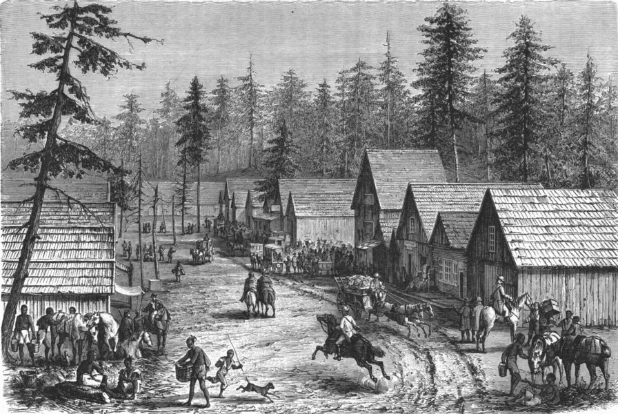 Associate Product WASHINGTON. New village, North-west 1880 old antique vintage print picture