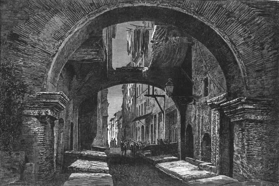 Associate Product ITALY. Rome. Peschiera Vecchia 1880 old antique vintage print picture