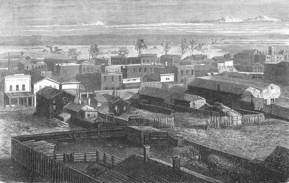 Associate Product WASHINGTON. A village in Washington territory 1880 old antique print picture