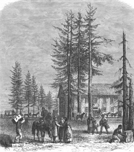 Associate Product WASHINGTON. Puget Sound & North railway 1880 old antique vintage print picture