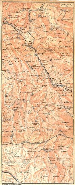 Associate Product ITALY. Arsoli Subiaco Genazzano paliano Genazzano Marano Equo 1924 old map