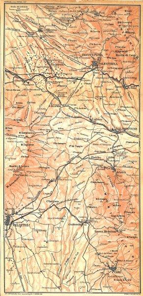 Associate Product ITALY. Palestrina Velletri Cori gallicano Valmontone Zagarolo Artena 1924 map