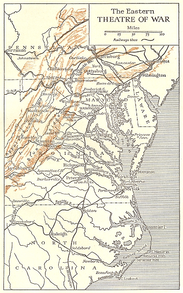 Associate Product USA. The War in 1862. The Eastern Theatre of War 1942 old vintage map chart