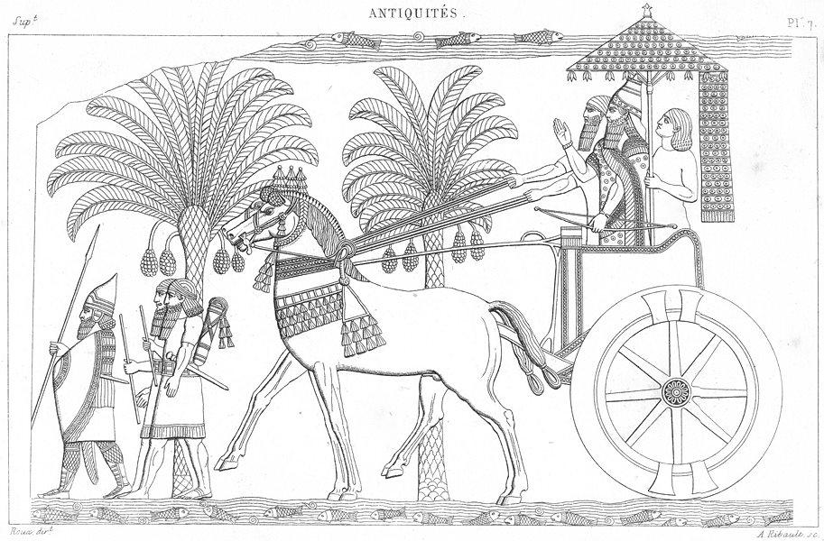 Associate Product KINGS. Le Roi sur son char, au retour d'une Bataille 1875 old antique print