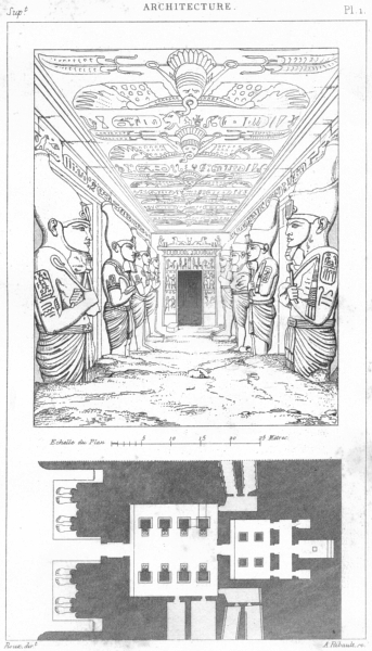 Associate Product EGYPT. Architecture. Nubie(Nubia)Speos de phre, a Abou-sembil 1875 old print