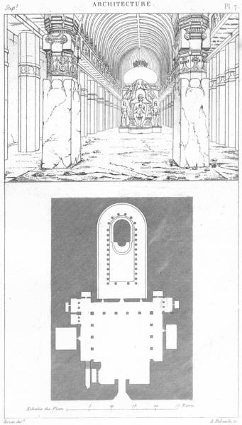Associate Product INDIA. Architecture. Inde. Plan du temple de Visouakarma 1875 old print